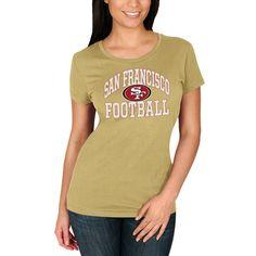 San Francisco 49ers Majestic Women's Franchise Fit T-Shirt - Gold
