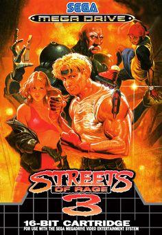Framed Print - Sega Mega Drive Game Poster – Streets of Rage 3 (Picture Art) Retro Video Games, Video Game Art, Retro Games, Mega Drive Games, Sega Mega Drive, Playstation, Xbox, Sega Genesis Games, Game Art