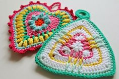 Vintage Potholder Patterns - Love the colors she chose!