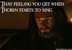 So true! I love the way they give voice to the songs J.R.R Tolkien wrote in his books.