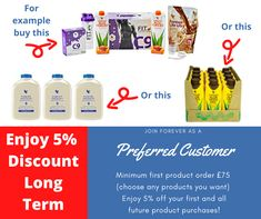 Get a long-term discount on all Forever's products as a preferred customer - simply click the embedded Facebook link and then look for the picture you see here. You'll see how easy it is to become a Forever Preferred Customer and save money on all your future orders. See you on Facebook! Can't wait to welcome you there.