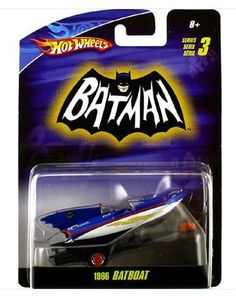 Hot Wheels 1966 Batboat 1:50 Scaled Diecast
