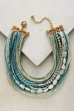Miriam Haskell Gold plated brass, aquamarine, turquoise, glass, agate