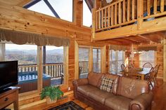 Fabulous Views. Incomparable. Best in the Area. Must See. Upscale log cabin - great for family time. Great log cabin centrally located close to parkway in Pigeon Forge, near Light 10, 5 minutes to #Gatlinburg.  Bedrooms: 4 ~ Bathrooms: 3 ~ #Occupancy12