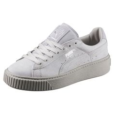 Puma Basket Platform Reset Grey buy and offers on Dressinn Puma Suede, Puma Sneakers, Girls Sneakers, Up Shoes, Pumas Shoes, Trendy Plus Size Clothing, Plus Size Outfits, Rihanna Shoes, Baskets