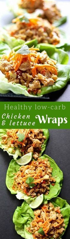 Healthy Chicken Lettuce Wraps – These low-carb chicken wraps really ...