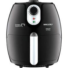 Americanas Fritadeira Elétrica Mallory Smart Air Fryer 2,3L Preta - Livro de Receita Grátis - R$234