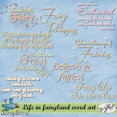 Life in fairyland word art by Scrap'Angie