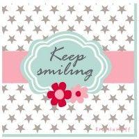 Krasilnikoff Servietten 'Keep smiling'