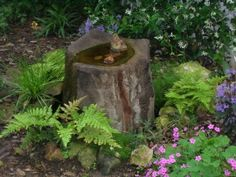 I just happen to have a tree stump in the yard I am landscaping. What a great idea this is for a woodland garden.