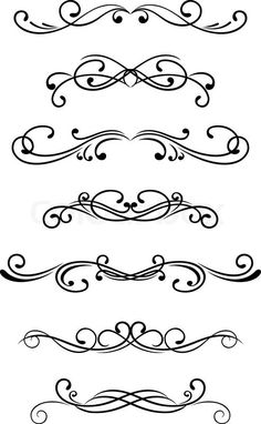 Stock vector of Swirl elements and monograms for design and decorate