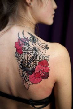 women shoulder tattoos - Google Search