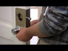 How to Replace an Exterior Door Knob & Lock : Door Installation & Maintenance Door Knob Lock, Door Knobs, Door Handles, Home Fix, Diy Home Repair, Bedroom Doors, Home Repairs, Useful Life Hacks, Door Locks