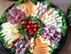 Build Your Own Sandwich Party catering. Pick your meats and cheese on this platter