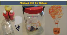 Marbled Hot Air Balloons