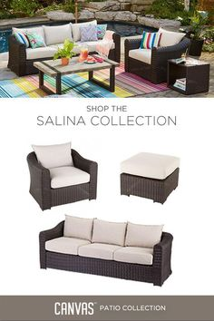 Create a conversation nook you'll love all summer long with the CANVAS Salina Collection. #MyCANVASstyle