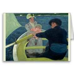 The Boating Party by Mary Cassatt Greeting Cards
