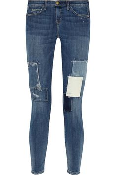 Current/Elliott The Stiletto patched skinny jeans $298