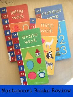 Review on Montessori books from LalyMom. Will these books about letter work, shape work, number work, and map work help your preschooler learn more? These books turn out to be engaging with your child. Find out how these books can help you and your preschooler learn more about their numbers, shapes, letters, and maps with these Montessori books. #books #montessori #montessoribooks #shapes #letters #numbers #preschooler #preschool