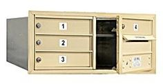 4C Horizontal Mailbox (Includes Master Commercial Lock) - 3 Door High Unit (13 Inches) - Double Column - 4 MB1 Doors - Sandstone - Front Loading - Private Access by Salsbury Industries. $264.10. 4C Horizontal Mailbox (Includes Master Commercial Lock) - 3 Door High Unit (13 Inches) - Double Column - 4 MB1 Doors - Sandstone - Front Loading - Private Access - Salsbury Industries - 820996415073. Save 12%!