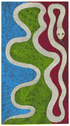 """Snake Festival"" by artist Rhambaros Jha, from his book Waterlife. According to Maria Popova, this is Mithila art--a form of folk painting from Bihar in eastern India."