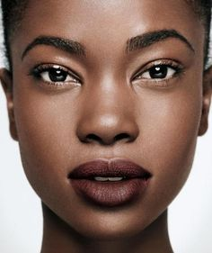Powdery makeup produces a porcelain finish that never looks greasy or shiny in pictures.