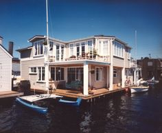For my husband who says he could love on a house boat forever I think I could too if it looked like this ha!