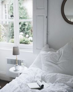 Cozy white bedroom