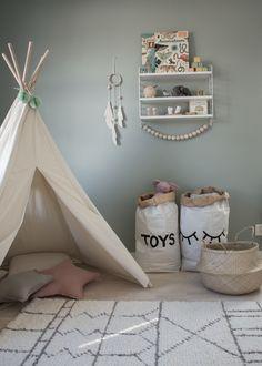 Kids room, Barnrum, tang johannas gröna, Tellkiddo, Granit, Tipi Tent