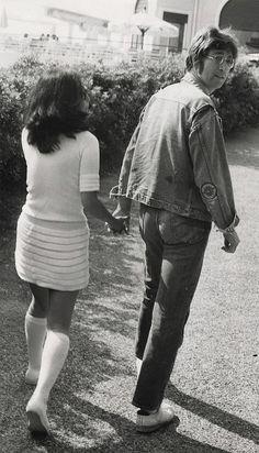 John Lennon & Yoko Ono; captured by Gökşin Sipahioğlu