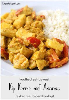 Kip Kerrie met Ananas – De K van Koken Fodmap, Healthy Diners, Low Carb Recipes, Healthy Recipes, Healthy Lifestyle Motivation, Bon Appetit, Sweet Potato, Slow Cooker, Food Porn