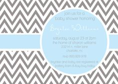 Brynlee Custom Modern ZigZag Baby Shower by andreagerigdesigns, $15.00