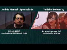 Política y Sociedad: Llamada Yeidckol Polevnsky a Andrés Manuel López B...