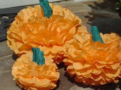 Paper party pom poms and the original DecoPOM Buddy by DecoPOMS Halloween Pumpkins, Halloween Party, Tissue Balls, Pumpkin Wedding, Personalized Wall Art, Happy Fall Y'all, School Parties, Some Fun, First Birthdays