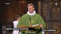 Le père René Luc, dont l'homélie a été diffusée dimanche dans l'émission religieuse Le Jour du Seigneur , a accroché son auditoire avec une analogie entre Dieu et... le patron de l'équipe de France de foot.