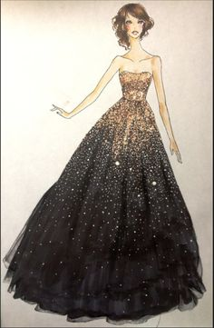 I like how the dress has a fantasy and realistic tone to it.