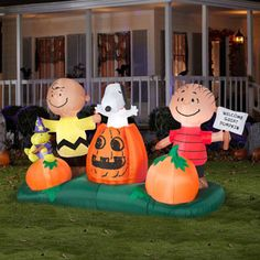 5 airblown inflatables animated peanuts pumpkin patch halloween decoration - Walmart Halloween Decorations