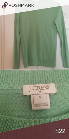:: mint green J Crew wool sweater:: In good used condition J. Crew Sweaters Crew & Scoop Necks