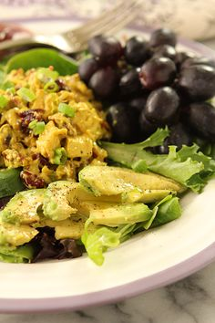Curried Chicken Salad with Dried Cranberries and Toasted Walnuts - Creative Culinary Food & Cocktail Recipes