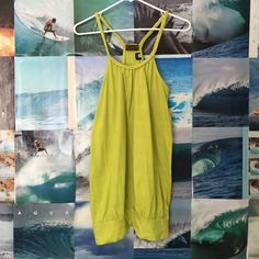 Lime green dress Cute braided straps, dress or bathing suit cover up. Size medium but can also fit a small.  •Please make offers using the offer button! •No lowball offers! Tiki Palm Dresses
