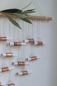 {Make it} DIY copper Advent calendar Christmas Craft Show, Christmas Family Feud, Christmas Crafts For Adults, A Christmas Story, Christmas Holidays, Christmas Decorations, Xmas, Homemade Advent Calendars, Diy Advent Calendar