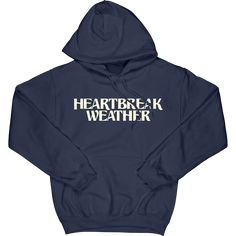 Heartbreak Weather navy unisex hoodie, featuring Heartbreak Weather logo as a front print and a large back print. One Direction Hoodies, One Direction Outfits, Trendy Outfits, Cool Outfits, Fashion Outfits, Harry Styles Merch, Trendy Hoodies, Painted Jeans, Summer Gifts