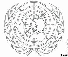 Pinto Dibujos Bandera De Las Naciones Unidas Para Colorear Banco