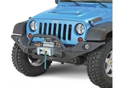 Quadratec Q-Series Winch with Smittybilt XRC M.O.D. Front Bumper with Full Width Endcaps and Center Hoop Bull Bar