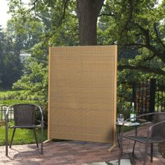 Perfect for your deck or patio, the Versare Outdoor Wicker Resin Room Divider is comprised of one weather-resistant resin wicker panel supported by.
