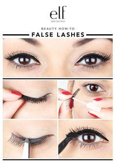 Blog | beauty how-to: FALSE LASHES | elf cosmetics