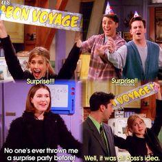 Surprise!!! #FRIENDS #Rachel and #Ross