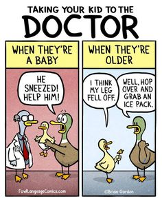 Taking your kid to the doctor . . . .