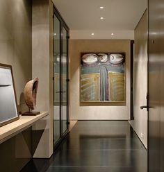 Hallway painting, black floor /Terry Hunziker