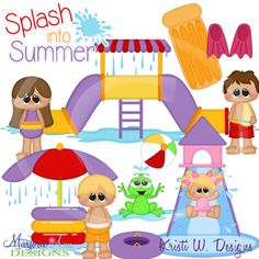 Fun At The Water Park~SVG-MTC-PNG plus JPG Cut Out Sheet(s) Our sets also include clipart in these formats: PNG & JPG